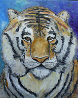 SCRAPPY THE TIGER new feline exotic big cat 16x20 canvas oil painting Crowell