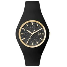 Ice-Watch ICE GLITTER Black Unisex Damen Uhr Kautschuk schwarz ICE.GT.BBK.U.S.15