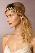 BHLDN Elizabeth Bower Gilt Amaranthus Halo Gold Flower Headband Belt Bridal