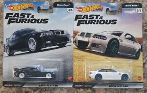 HOT WHEELS 2020 PREMIUM FAST & FURIOUS EURO FAST BMW M3 E36 & E46 BOTH CARS NEW