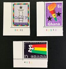 Ghana  #121-3 Second Anniversary of Republic 1962 - MNH