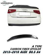 Carbon Fiber Trunk Spoiler Lip For 13-16 Audi A4 B8.5 / A4 Quattro Sedan Type A