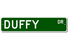 DUFFY Street Sign - Personalized Last Name Sign