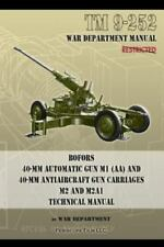 TM 9-252 Bofors 40-MM Automatic Gun M1 (AA) and 40-MM Antiaircraft Gun Carriages