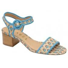 Ravel Louise Aqua Block Designer Cheap Summer Dress Mid Heel Sandals UK 5