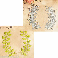 Metal Leaf Flower Cutting Dies Stencil Template DIY Scrapbook Paper Cards Decor