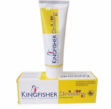 Kingfisher Fraise sans Fluorure Enfants Dentifrice Naturel 75ml (Paquet de 2)