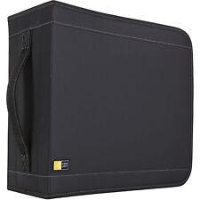 Case Logic CDW-320 336 Capacity CD Wallet -Book Fold -Nylon - 336 CD/DVD - Black