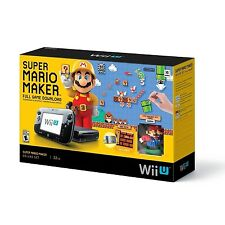Nintendo Wii U 32GB Console - Super Mario Maker Deluxe Set - BLACK [Wii U] NEW