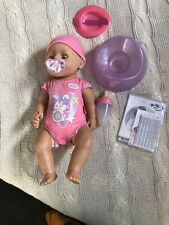 NEW BABY BORN INTERACTIVE DOLL ZAPF CREATION LIFELIKE FUNCTIONS GIRL ACCESSORIES