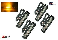 4pcs LED Flashing Strobe Lamps Lights Ultra Slim 6  Amber Car SUV Surface Mount