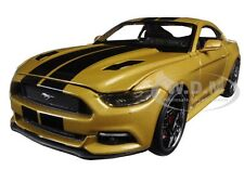 """2015 FORD MUSTANG GT GOLD """"CLASSIC MUSCLE"""" 1/24 DIECAST MODEL BY MAISTO 31369"""