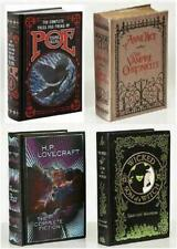 HORROR COLLECTION 4 LEATHER BKS ~ VAMPIRE CHRONICLES ~ POE ~ WICKED ~ LOVECRAFT
