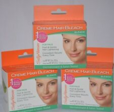 3 SALLY HANSEN CREME HAIR BLEACH FOR FACE FAST & GENTLE HAIR LIGHTENING NEW
