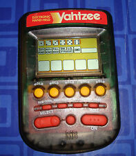 YAHTZEE  Electronic Handheld Travel Game CLEAR see through MB & Instructions