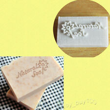"Flower Soap Stamp Seal Mold Handmade Craft for Natural Soap Making Resin 2""x1.2"""