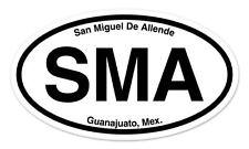 "SMA San Miguel de Allende Mexico Oval car window bumper sticker decal 5"" x 3"""