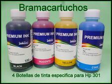 PK DE 4 BOTELLAS DE TINTA HP 301, 301XL HP301Xl Hp301 HP DeskJet 1000 1055 3000