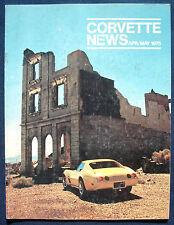 Prospekt brochure Corvette News April / May 1975 (USA)