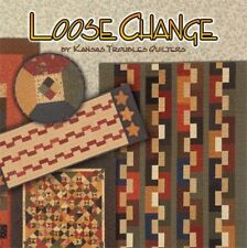 QUILT BOOK~LOOSE CHANGE~KANSAS TROUBLES QUILTERS~USES LAYER CAKE, CHARM PACK,ETC
