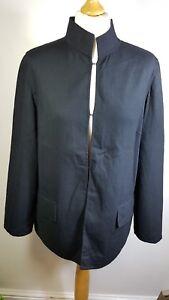 JAEGER jacket Size 8 mandarin collar minimalist style fine wool