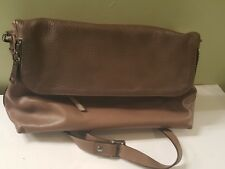 A. Bellucci Genuine Italian Leather Brownish  Tone  Crossbody Bag