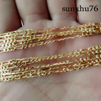 """2MM 18k Yellow Gold Filled Twist Link Chain 1pc Necklace Wedding Jewelry 16-30"""""""