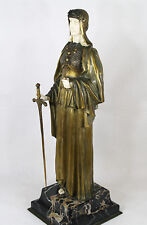 ANTIQUE CHIPARUS CHRYSELEPHANTINE BRONZE SCULPTURE DEMETRE LADY JUSTICE C.1925