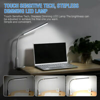 Adjustable USB LED Reading Dimmable Light Clip-on Clamp Bed Table Desk Lamp 5W