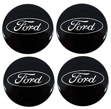 4 x Genuine Ford Transit Custom Gloss Black Alloy Wheel Centre Cap / Trims