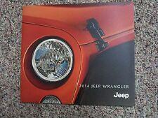 2014 Jeep Wrangler Rubicon X Sahara Unlimited Brochure Catalog + BUYER'S GUIDE