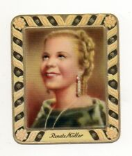 Renate Müller 1936 Aurelia Film Star Embossed Cigarette Card #156