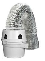 Dundas Jafine TDIDVKZW ProFlex Indoor Dryer Vent Kit with 4-Inch by 5-Foot