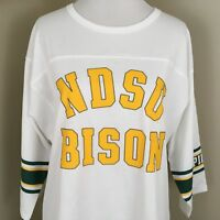 Victoria's Secret Pink NDSU Bison Collegiate Tee Shirt Size Medium (F11)
