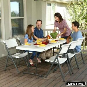 Lifetime 6ft Adjustable Height Commercial Table Perfect For Party And Picnic