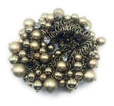 Multi Strand Bronze Pearl with Diamonds Bracelet