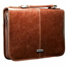 Book Cover Protective Case Classic Large Leather Look Bible Cross Engraved Brown