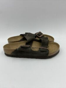 Birkenstock Womens Arizona Mocha Suede Sandals Size 37 M , 555