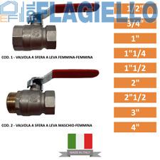 "Valvola a Sfera a Leva Misure 1/2""-3/4""-1""-1""1/4-1""1/2-2""-2""1/2-3""-4"""