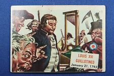 1954 Topps Scoop - #143 Louis XIV Guillotined - Good Condition