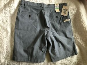 "Dockers 34 Perfect Fit men's shorts gray NWT Classic Fit 9.5"" inseam"