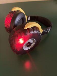 Light Up Monster Jam Mud Tire Kids Headphones Earmuffs Hearing Protection