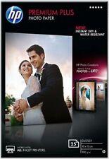 HP Premium Plus (10 x 15cm) Glossy Snapshot Photo Paper (25 Sheets) (White)