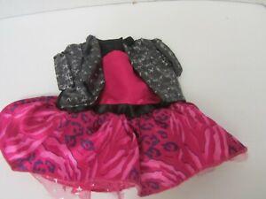 Build A Bear Rock Star Punk Style Pink Dress