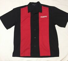 Diablo Tools Button Front Shirt Black Mens Large Embroidered