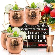 ▶ Benicci Moscow Mule Copper Mugs Pure Solid Copper Mug 16oz Gift Set of 4