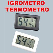 MISURA CASA DIGITALE TERMOMETRO IGROMETRO TEMPERATURA LAVORO UFFICIO qc
