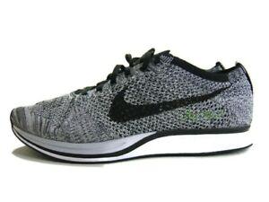 Nike Sneakers Black White Gray Flyknit Racer Oreo 1.0 Running Mens 12 526628-101