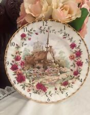 Royal Albert Old Country Roses Cottage Wall Clock - Parts, Not Working