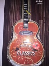 Musical Guitar Ornament Why Don't We Just Dance Country Illuminated NEW Unit#4